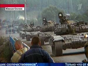Des blindés russes font route vers la capitale ossète.