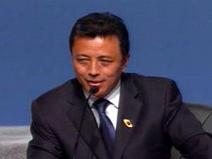 Marc Ravalomanana, président de la République de Madagascar, au Sommet de la Francophonie à Québec