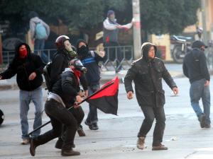 Des manifestants grecs