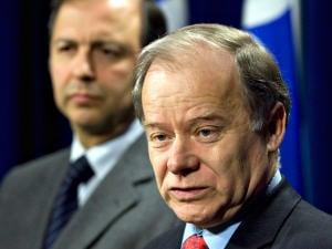 Le ministre québécois du Développement économique, de l'Innovation et de l'Exportation, Raymond Bachand et maintenant ministre des Finances