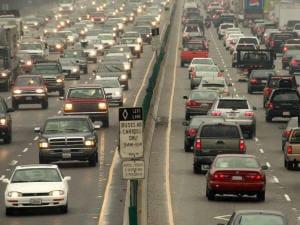 Vue de l'autoroute 80 à Berkeley, aux États-Unis, en novembre 2008.