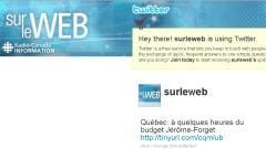 La page Twitter de Sur le web