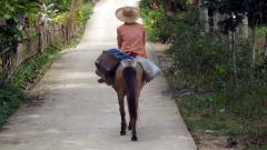 Une paysanne philippine