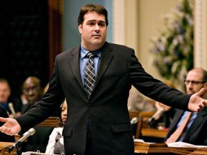 Le ministre David Whissell, à l'Assemblée nationale, en décembre 2007.