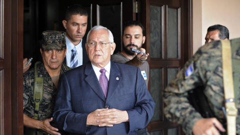 Le président putchiste du Honduras Roberto Micheletti