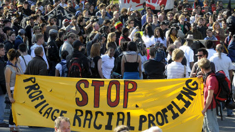 Manifestation contre le profilage racial et la brutalité policière en octobre 2008
