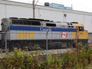 Train de Via Rail à Vancouver