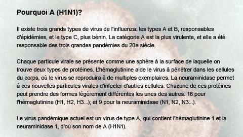 Pourquoi A (H1N1)?