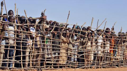 Camp de réfugiés à Goz Beida, dans le sud du Tchad, en mars dernier.