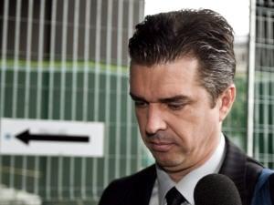 Vincent Lacroix à son arrivée au palais de justice de Montréal, le 14 septembre 2009