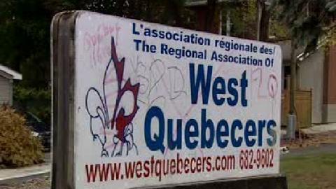 La pancarte de West Quebecers