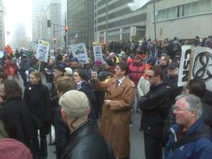 Manifestation contre la venue de George W. Bush à Montréal