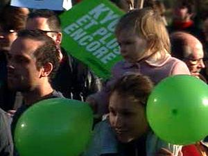 Manifestation contre le projet de reconstruction de l'échangeur Turcot.