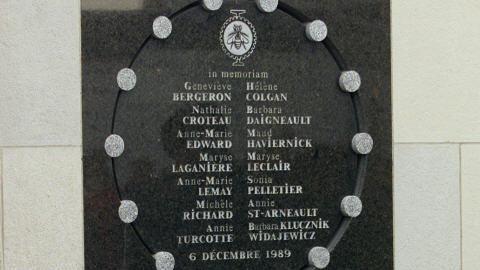 Plaque commémorative des victimes de Polytechnique