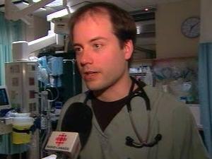 Le Dr Bernard Jr Richard, chef du service d'urgence à l'Hôpital du Suroît.