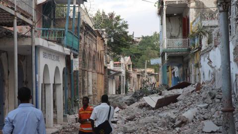Le centre-ville de Jacmel