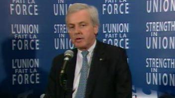 Le secrétaire général adjoint aux affaires humanitaires des Nations unies, John Holmes, à la conférence de Montréal