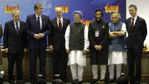 Quelques-uns des politiciens réunis à la Conférence de Delhi