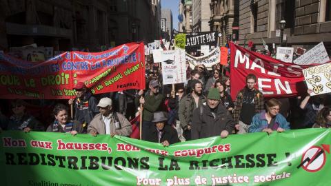 Manifestation contre le budget