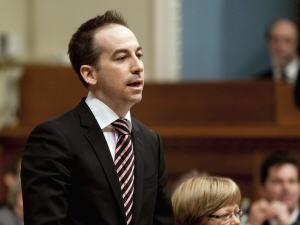 Le député péquiste Nicolas Girard, en Chambre.