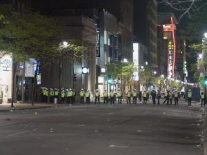 Les policiers ont annoncé la fin des «festivités» peu après minuit.