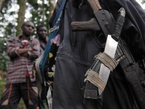 Des armes de rebelles hutu rwandais récupérés par l'armée de la RDC (archives).