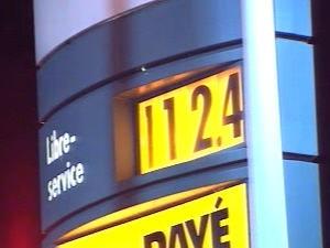 Le coût de l'essence en hausse
