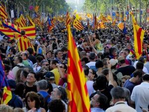 Manifestation à Barcelone