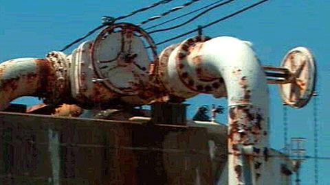 Tuyauterie de la raffinerie Shell de Montréal