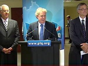 Jacques Dupuis, Jean Charest et Jean-Marc Fournier