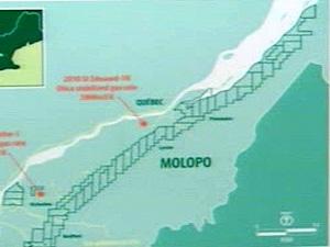 Carte extraite d'un rapport de la multinationale Molopo sur le gaz de schiste dans la région de Lévis, entre autres.