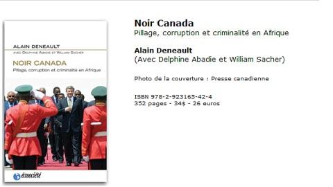 Couverture du livre «Noir Canada»