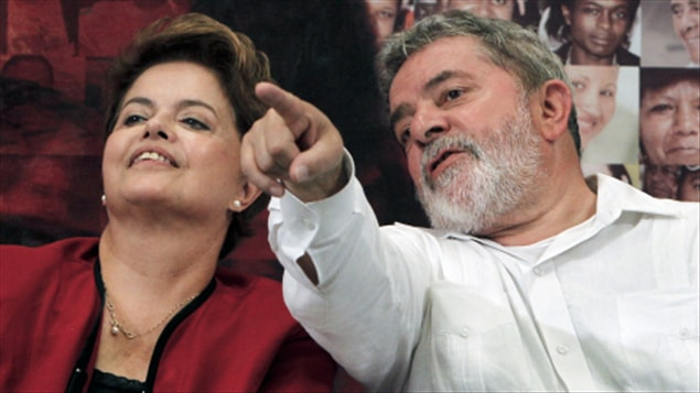 Dilma Rousseff et Luiz Inacio Lula da Silva