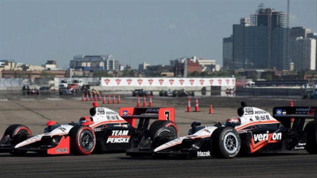 La course Indycar d'Edmonton en juillet 2010