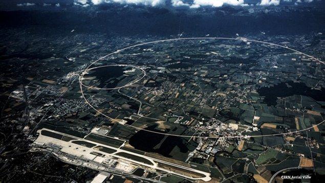 Une vue aérienne des installations du CERN