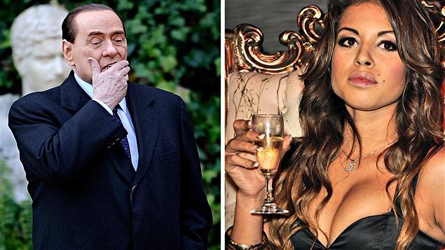 Silvio Berlusconi et Karima El Mahroug, surnommée Berlusconi et Karima El Mahroug, surnommée Ruby