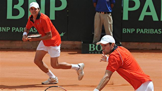 Milos Raonic et Daniel Nestor en Coupe Davis