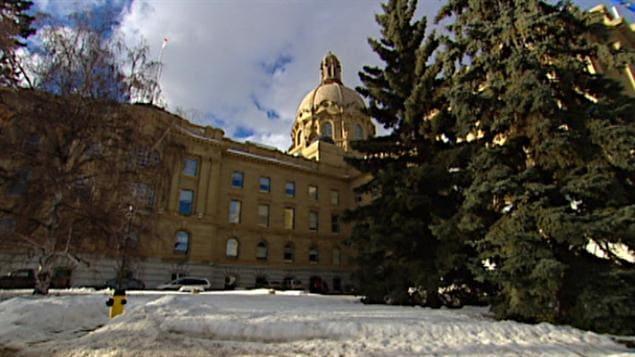 Le bâtiment de l'assemblée législative à Edmonton
