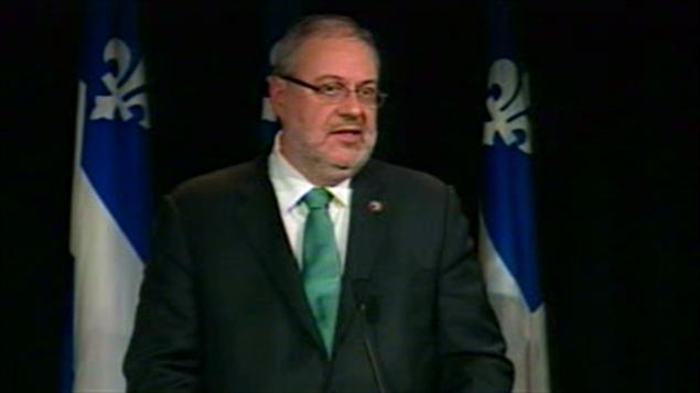 Le ministre du Développement durable, de l'Environnement et des Parcs, Pierre Arcand
