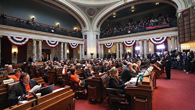Les représentants du Wisconsin, avant la tenue du vote