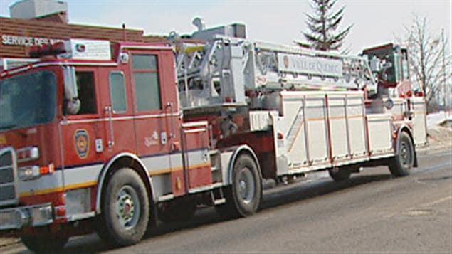 Le nouveau camion échelle timonier des pompiers de Québec