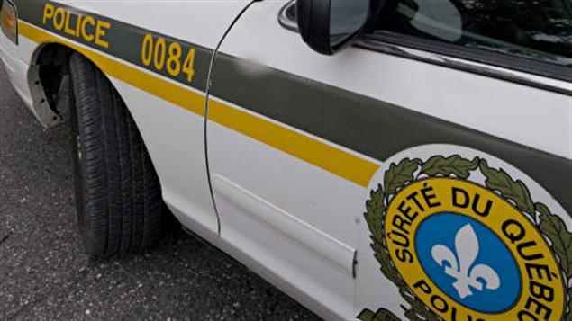 Détail d'une voiture de la Sûreté du Québec