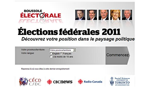 Boussole électorale, radio-canada.ca/elections