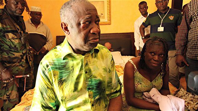 Laurent Gbagbo et sa femme lors de leur capture