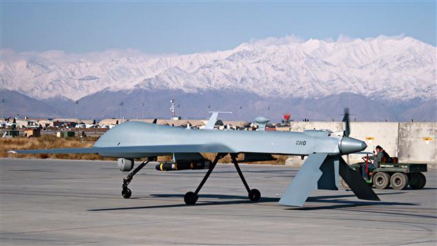 Un drone américain à la base de Baghram en Afghanistan.