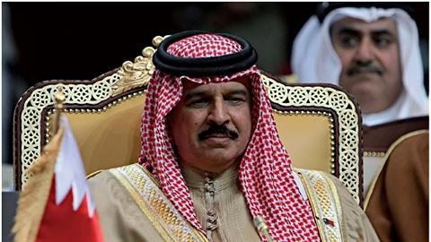 Le roi de Bahreïn, Hamad ben Issa Al-Khalifa