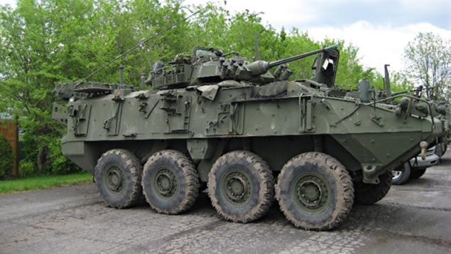 Char des Forces canadiennes à Venise-en-Québec