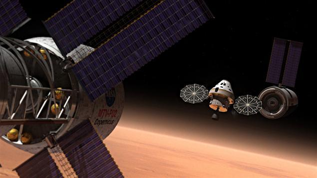 Le nouveau vaisseau spatial de la NASA en action