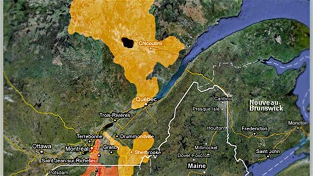 En rouge : les zones à risque d'inondation. En jaune: les zones à risque de fortes crues. En date du 30 mai.
