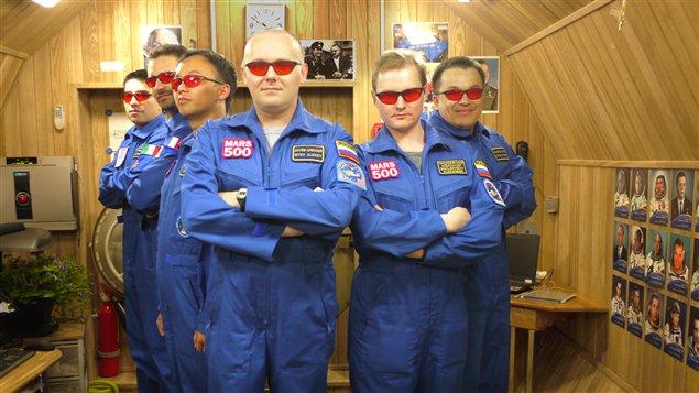 L'équipage de la mission Mars 500